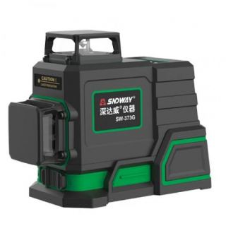 SNDWAY Leveling Device (30 Meters) -3 Levels -Green Laser -Li Battery -SW-373G
