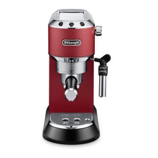 DeLonghi Dedica Pump Espresso Coffee Machine 15 Bar Red EC685.R