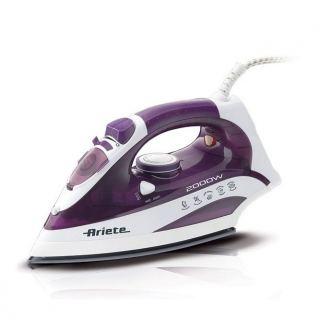 Ariete Steam Iron, 2000 Watt, Purple/White - 6235