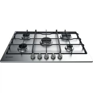INDESIT BUILT-IN GAS HOB 75CM 5 BURNERS STAINLESS THP 752 IX I