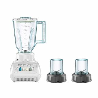 TORNADO Electric Blender 500 Watt , 1.5 Litre With 2 Mills In White Color MX5200/2