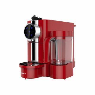 TORNADO Automatic Espresso - Capsules Coffee Machine 0.65 Liter, 1050 Watt in Red Color TCMN-C65R