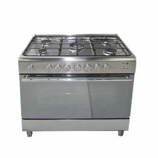 Fagor Gas Cooker 5 Burner 90*60 cm Stainless Steel Full Safety With Splashback: 5CF-990