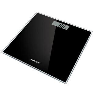 Salter Glass Electronic Digital Bathroom Scale, Black 9037 BK3R