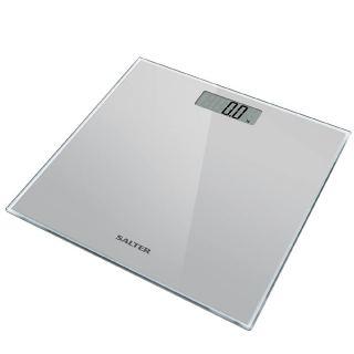 Salter Glass Electronic Digital Bathroom Scale, Silver 9037 SV3R