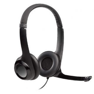 Logitech H390 Wired Headset, Stereo Headphones with Noise-Cancelling Microphone