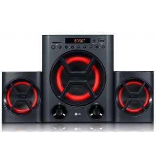 LG Speaker System LK72B, 40W Mini Audio, USB, SD Card, Portable In (New)