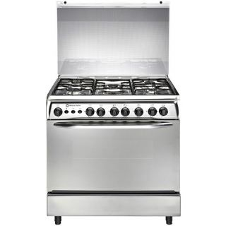White Point Gas Cooker 5 Burners Stainless Steel Surface 80x60 Silver - Fan - WPGC 8060 SXTA