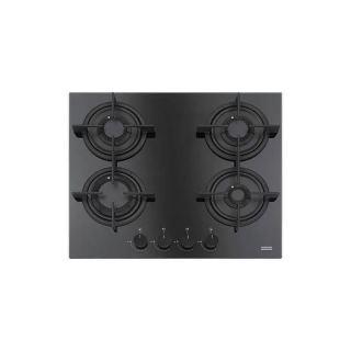 Franke Built-in Gas Hob 4 Burners 60 cm Cast Iron Crystal Black FHCR 604 4G HE BK C