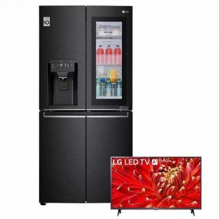 LG REFRIGERATOR INSTAVIEW 508 LITER INDOOR ICE MAKER DOOR IN DOOR BLACK STEEL GC-X22FTQEL