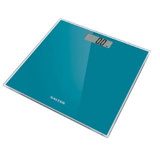 Salter  Glass Electronic Digital Bathroom Scale, Turquoise 9037 TL3R