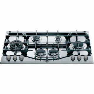 Ariston-90 cm gas Hob cast iron grids PHN 961 TS/IX/A