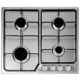 ELBA Gas hob , 60 cm,stainless steel ,4 burners, front control,enamel supports, full safety, self ignition.EF60-400 XD