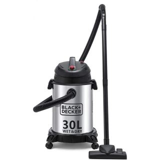 Black + Decker Drum Vacuum Cleaner, 1610 Watt, Silver/Black - WV1450-B5