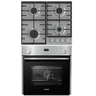 Gorenje Built-In Gas Hob 60 cm 4 Burners G641X +built in gas Oven 60cm with Grill BOG632E10FX
