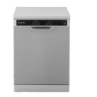 White Point Dishwasher 15 Settings 8 Programs With Digital Screen, Half Load, Hygiene Wash Technology And Inverter Motor In Stainless Color WPD158HDVX