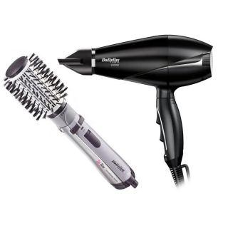 Babyliss Hair Styler Rotating Brush - 2735E with Babyliss Le Pro Light Hair Dryer - 6604E
