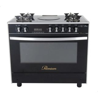 PREMIUM COOKER ICHEF PLUS 4 GAS , INFRA 90*60 CM GLASS TOP WITH FAN SAFETY DIGITAL PRM6090GS-AC-383-IDSH-S-F