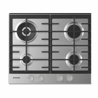HOOVER Built-In Hob 60 x 60 cm 4 Gas Burners In Stainless Steel Color HHG6BR4MX