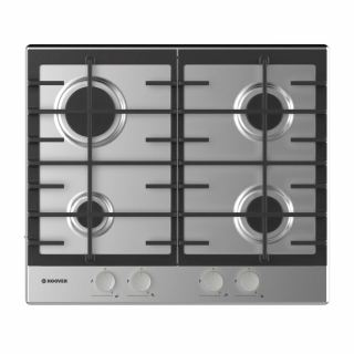 HOOVER Built-In Hob 60 x 60 cm 4 Gas Burners In Stainless Steel Color HHG6BRMX