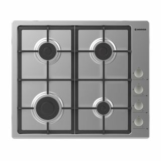 HOOVER Built-In Hob 60 x 60 cm 4 Gas Burners In Stainless Steel Color HHG6LSX-EGY