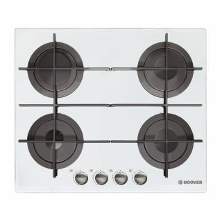 HOOVER Built-In Hob 60 x 60 cm 4 Gas Burners In White Glass Color HGV64STCGW