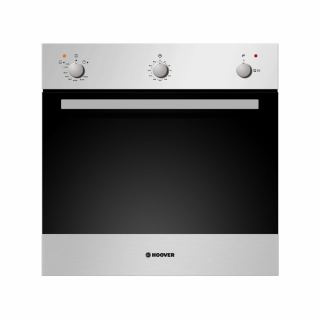 HOOVER Built-In Oven Gas 60 x 60 cm 50 Liter In Stainless Steel Color With Grill and Cooling Fan HPG202/1XG