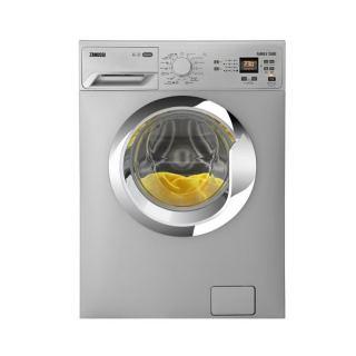Zanussi Front Loading Digital Washing Machine, 6 KG, Silver - ZWF60830SX