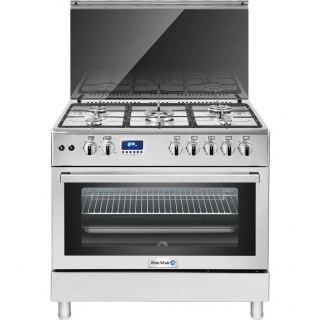 White Whale Pro Gas Cooker 5 Burners, Silver- WC9099FSS