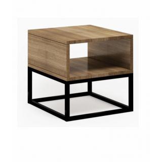 18mm wooden bedside table with electrostatic coating (MDF) COM-001