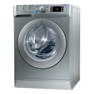 Indesit Front Loading Digital Washing Machine, 8 KG, Silver - XWE81283XSEU