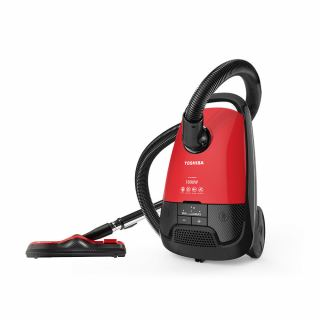 TOSHIBA Vacuum Cleaner 1800 Watt In Red x Black Color With HEPA Filter and Dusting Brush VC-EA1800SE