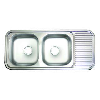 Hans ISD1100 Stainless Steel Kitchen Sink - 2 Bowls