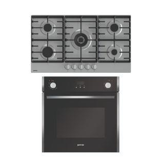 Gorenje Built-In Gas oven 60 cm-BOG633E00XGK + Gas hob 90 cm 5 burners GW9C51X