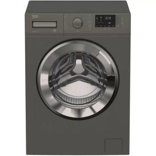 BEKO washing machine full automatic digital 9 kg 1200 RPM steam chorome door inverter gray WTX 91232 XMCI