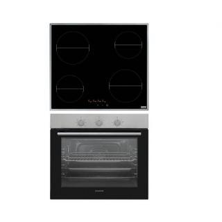 Franke hob Vetroceramica FHR 604 C T XS Touch Glass Black + Dominox - Built In Oven 60 Cm Electric DO 82 M NT XS FEN