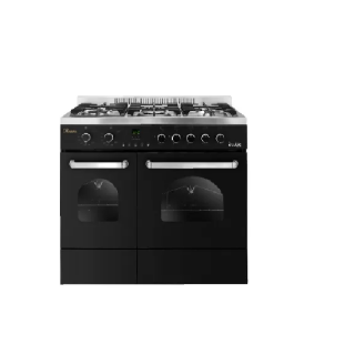 PREMIUM DOUBLE CHEF GAS COOKER 5 60*90 2 HORIZONTAL OVEN BURNERS STAINLESS STEEL*BLACK PRM6090SB-1BC-511-IDSP-DH