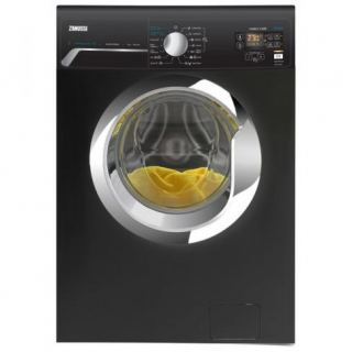 Zanussi ZWF7040BXV Front Load Automatic Washing Machine, 7 Kg - Black