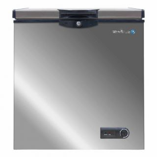 White Whale WCF-2250 CSS Defrost 175 Liters Chest Freezer, Silver