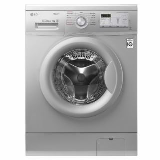 LG WASHING MACHINE 8 KG 1400 RPM WITH STEAM DIRECT DRIVE SILVER: FH4G7TDY5