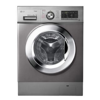 Lg Washing Machine 8 Kg Direct Drive 6 Motions Steam Silver Stone Color 1400 RPM : FH4G6TDY6