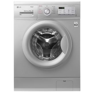 LG Washing Machine 9Kg Direct Drive 6 Motions Steam Silver FH4G6VDY4