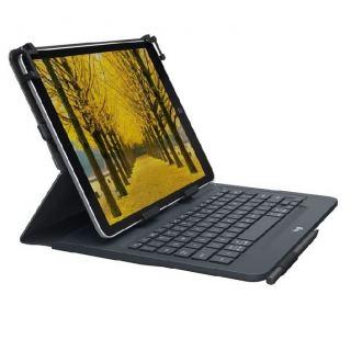 Logitech Universal Folio Wireless Keyboard, for 9-10 Inch Apple, Android, Windows Tablets, Black