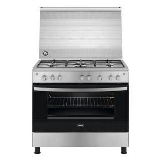 Zanussi Freestanding Gas Cooker, 5 Burners, Stainless Steel, 90 cm - ZCG91236XA