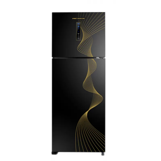 PREMIUM REFRIGERATOR 350 LITER NO FROST DIGITAL GLASS INVERTER PLASMA BLACK PRM-350BG2NA-C1I