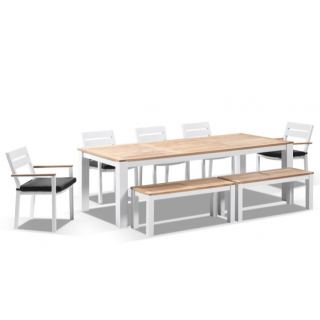 Outdoor Set consists of 1 center table , 5 chair & 2 bench  ODS-113