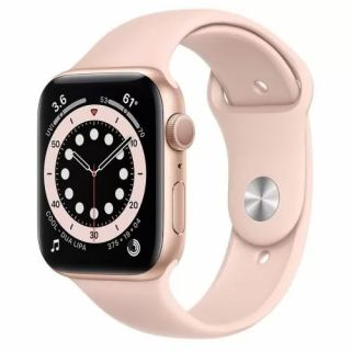 APPLE WATCH SERIES 6 GPS 44MM GOLD ALUMINIUM CASE WITH PINK SAND SPORT BAND M00E3AE/A
