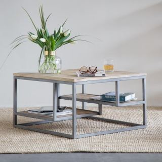 center table made of steel with electrostatic paint MU-007