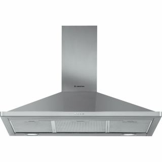 Ariston Built-In Pyramid Hood, Stainless Steel, 90 cm - AHPN 9.7F LM X
