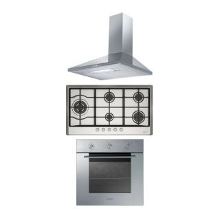 Franke Built in hob FHM 905 4G LTC XS C Stainless Steel + Pyramid Hood 90 cm 430 m3/h FJO 904 W XS + Built in oven 60 cm SM 51 G XS